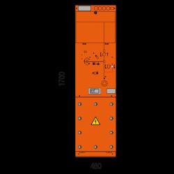 36 kV Leistungsschalterfeld 460 x 1700 mm