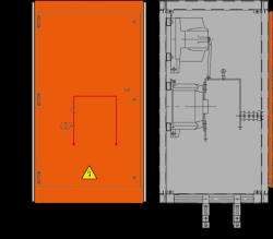 12 kV Messfeld 742 x 730 x 1300 mm