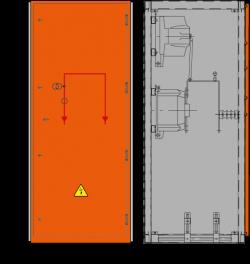 12 kV Messfeld 742 x 730 x 1700 mm