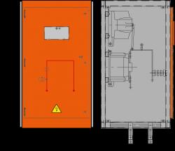 12 kV Messfeld 742 x 745 x 1300 mm