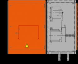 24 kV Messfeld 942 x 730 x 1300 mm