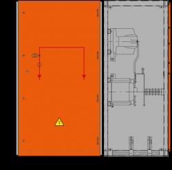 24 kV Messfeld 942 x 730 x 1700 mm