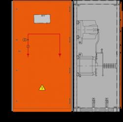 24 kV Messfeld 942 x 745 x 1700 mm