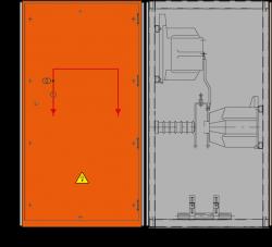 36 kV Messfeld 942 x 1230 x 1700 mm