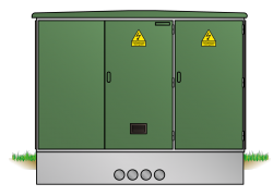 Kunststoff-Kompaktstationen begehbar Typ KST
